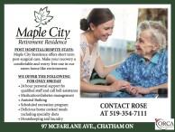 POST HOSPITAL/RESPITE STAYS at Maple City Retirement Residence