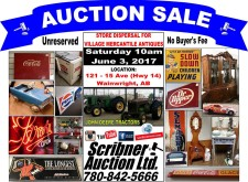 STORE DISPERSAL FOR VILLAGE MERCANTILE ANTIQUES  June 3, 2017