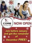 Join Core Athletic before January and get the remainder of December FREE!