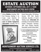 ESTATE AUCTION SATURDAY, SEPTEMBER 30th