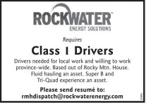 ROCKWATER ENERGY SOLUTIONS requires Class 1 Drivers