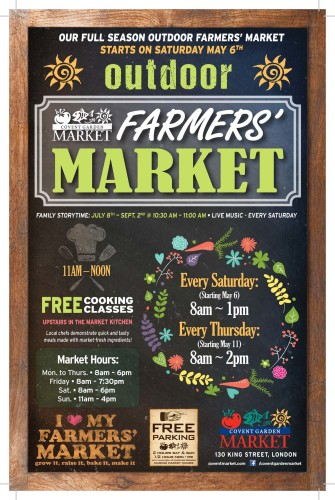 OUR FULL SEASON OUTDOOR FARMERS' MARKET STARTS ON SATURDAY MAY 6TH