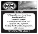 Assembler/pipefitter/ Apprentice Pipefitter