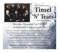 Please be our guests.... Tinsel 'N' Tears ....our annual event