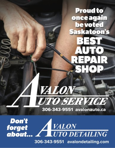 Proud to once again be voted Saskatoon's BEST AUTO REPAIR SHOP