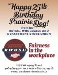 Happy 25th Birthday Prairie Dog!