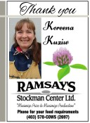 Thank you Koreena Kuziw