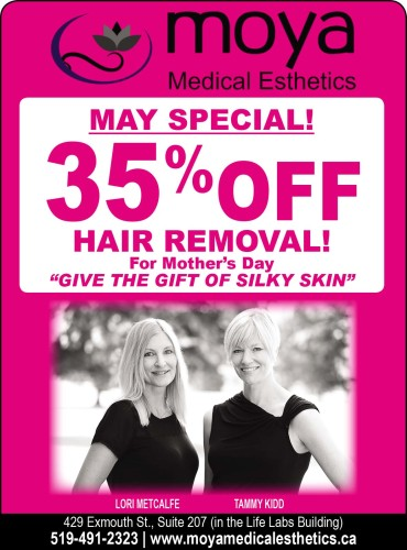 MAY SPECIAL! 35% OFF HAIR REMOVAL!
