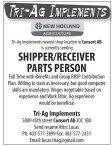 SHIPPER / RECEIVER PARTS PERSON