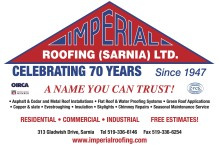 IMPERIAL ROOFING (SARNIA) LTD.  CELEBRATING 70 YEARS