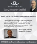 Because your ISO 9001 system is an investment not an expense.