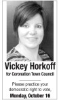 Vickey Horkoff for Coronation Town Council