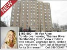 10 Van Allen Condo over looking Thames River for sale