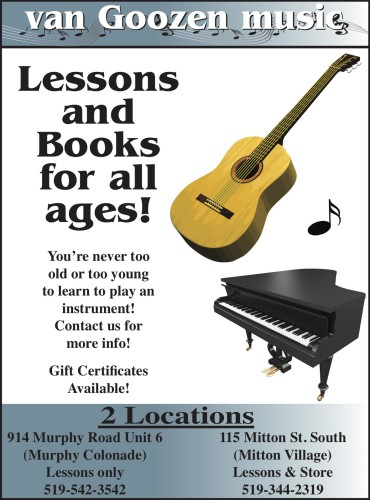 Van Goozen Music Lessons and Books for all ages!