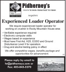 Experienced Loader Operator