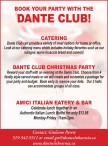 BOOK YOUR PARTY WITH THE DANTE CLUB!