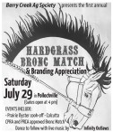 HARDGRASS BRONC MATCH & Branding Appreciation  Saturday July 29