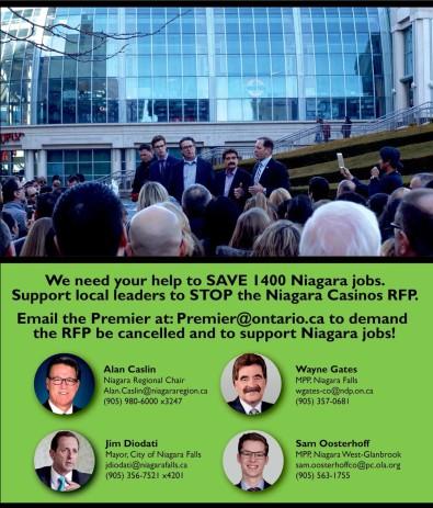 We need your help to SAVE 1400 Niagara jobs.