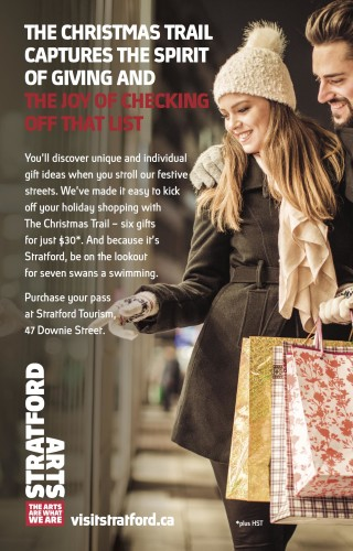 THE CHRISTMAS TRAIL CAPTURES THE SPIRIT OF GIVING