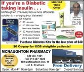 If you're a Diabetic taking insulin...