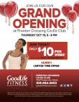 JOIN US FOR OUR GRAND OPENING at Preston Crossing Co-Ed Club