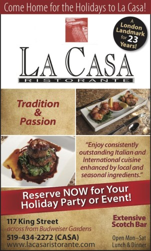 Come Home for the Holidays to La Casa!
