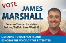 VOTE JAMES MARSHALL County of Stettler Candidate