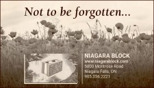 Not to be forgotten... NIAGARA BLOCK