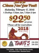 Join us for Chinese New Year Feast!
