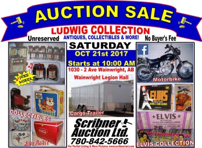 AUCTION SALE LUDWIG COLLECTION ANTIQUES, COLLECTIBLES & MORE!