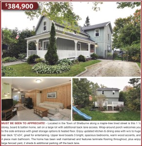 This 1 ½ Storey, Board & Batten Home, Set On A Large Lot With Additional Back Lane Access