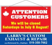 ATTENTION CUSTOMERS of LARRY'S CUSTOM EXHAUST & REPAIR