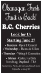 Okanagan Fresh Fruit is Back!