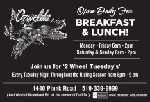 Ozwelds  Open Daily For BREAKFAST & LUNCH!
