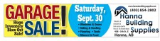 GARAGE SALE! Huge Inventory Blow Out Sale!  Saturday, Sept. 30