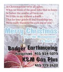 Merry Christmas from the Management & Staff of Badger Earthmoving