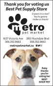 Thank you for voting Metr Pet Market Best Pet Supply Store