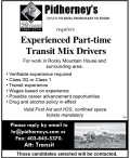Experienced Part-time Transit Mix Drivers