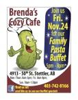 Family Pasta Buffet at Brenda's Cozy Cafe