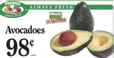 Avocadoes at  Mitchell Brothers