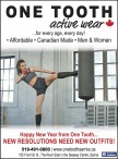ONE TOOTH active wear  ...for every age, every day!