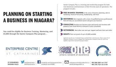 PLANNING ON STARTING A BUSINESS IN NIAGARA?