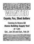 WILD FURS WANTED
