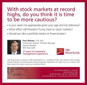 With stock markets at record highs, do you think it is time to be more cautious?