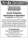 Service Technician Journeyman or Apprentice