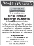 Service Technician Journeyman or Apprentice