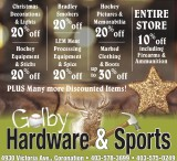 Discounted Items at Golby Hardware & Sports