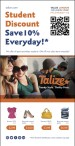 Talize offers all post-secondary students 10% off non sales items everyday!!