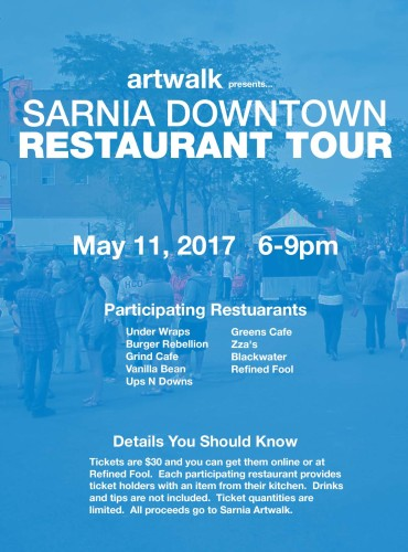 SARNIA DOWNTOWN RESTAURANT TOUR May 11, 2017