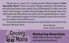 Groovy Mama Voted Regina's Best Specialty Store!
